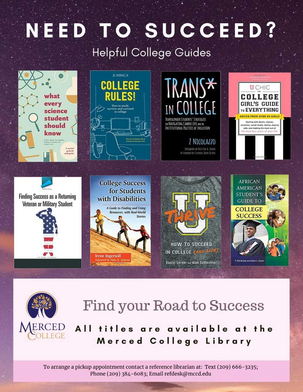 Need to Succeed? College success book recommendations