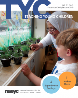 Cover of the trade magazine Teaching Young Children