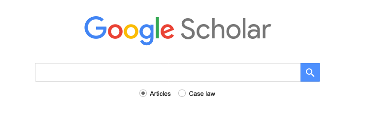 Google Scholar Homepage Search Box