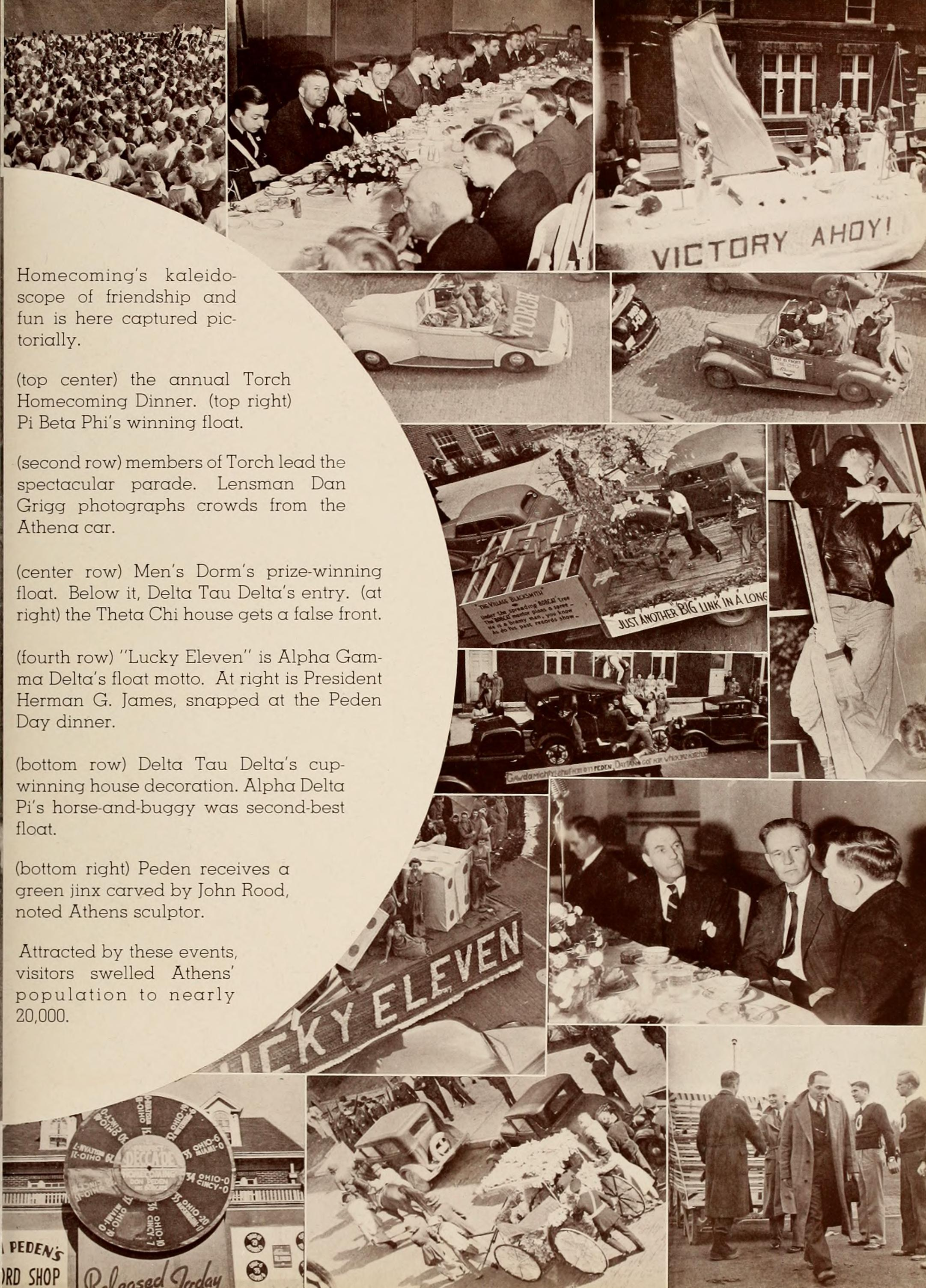Athena Yearbook 1940, 1939 Homecoming