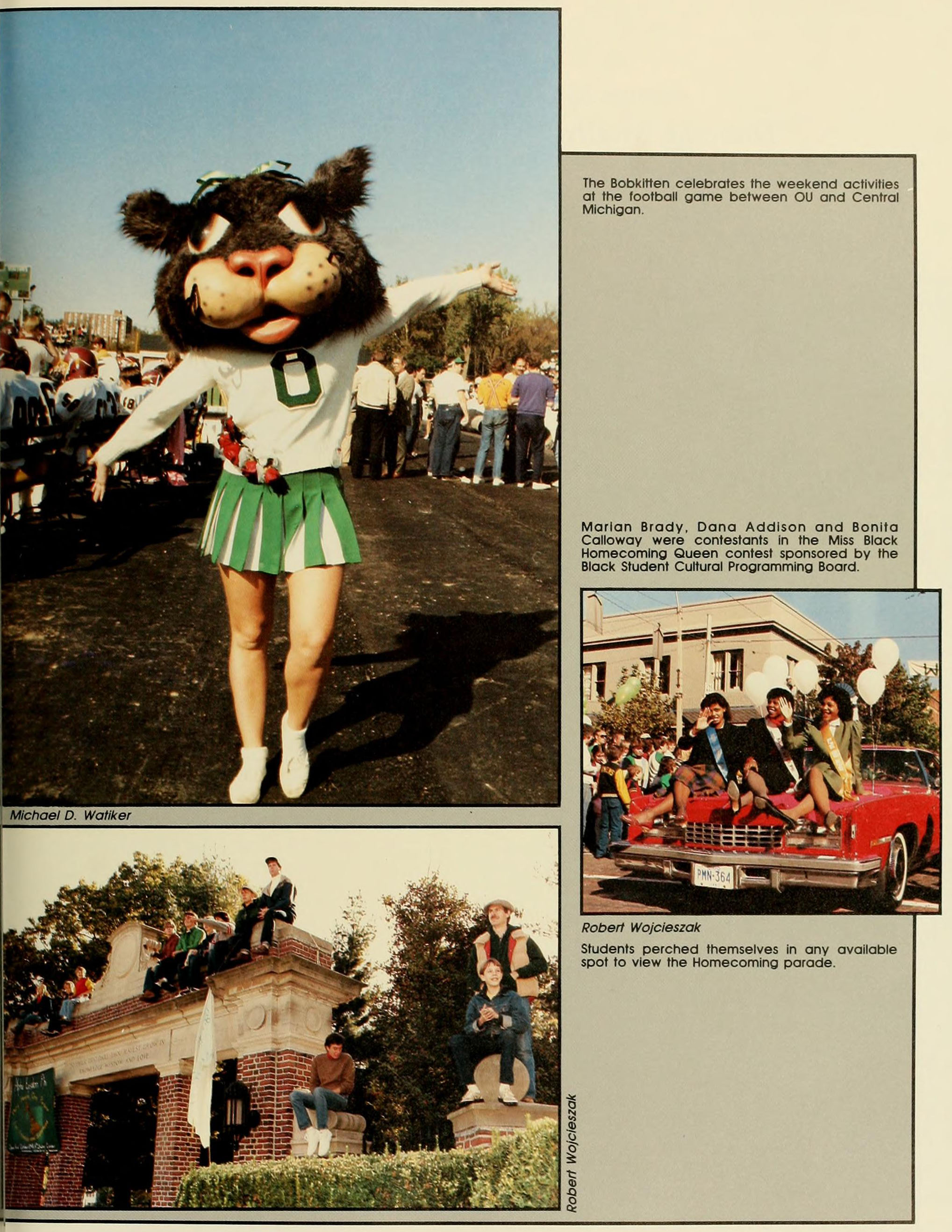 Athena yearbook page, 1984. Homecoming 1983