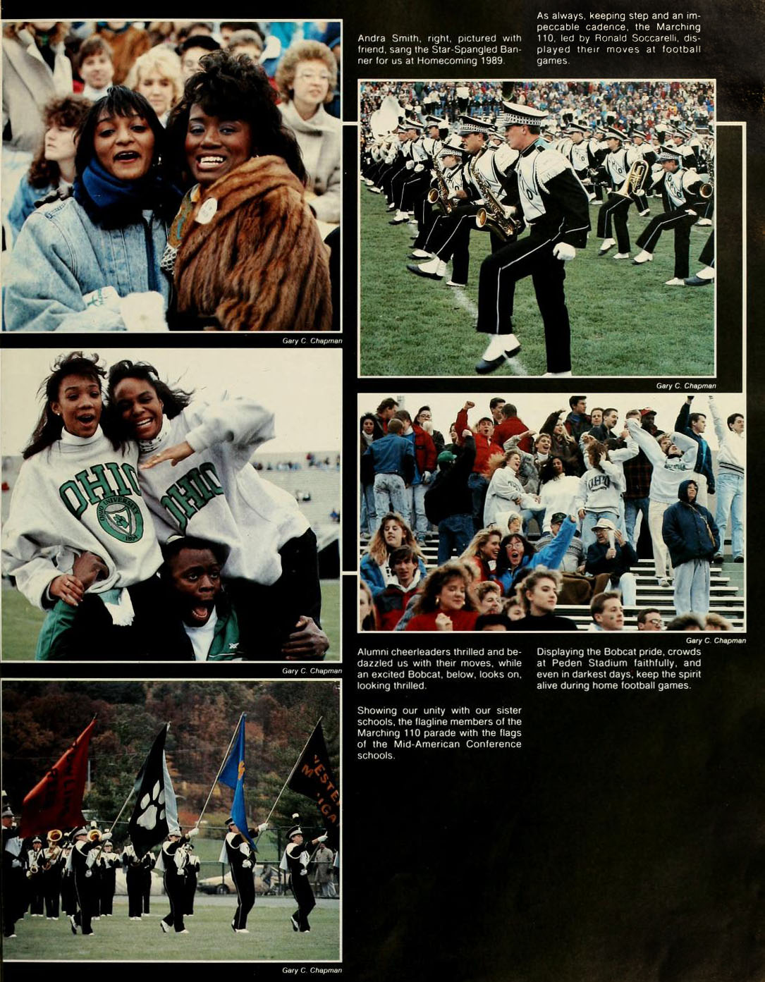 Athena yearbook Homecoming page, 1990