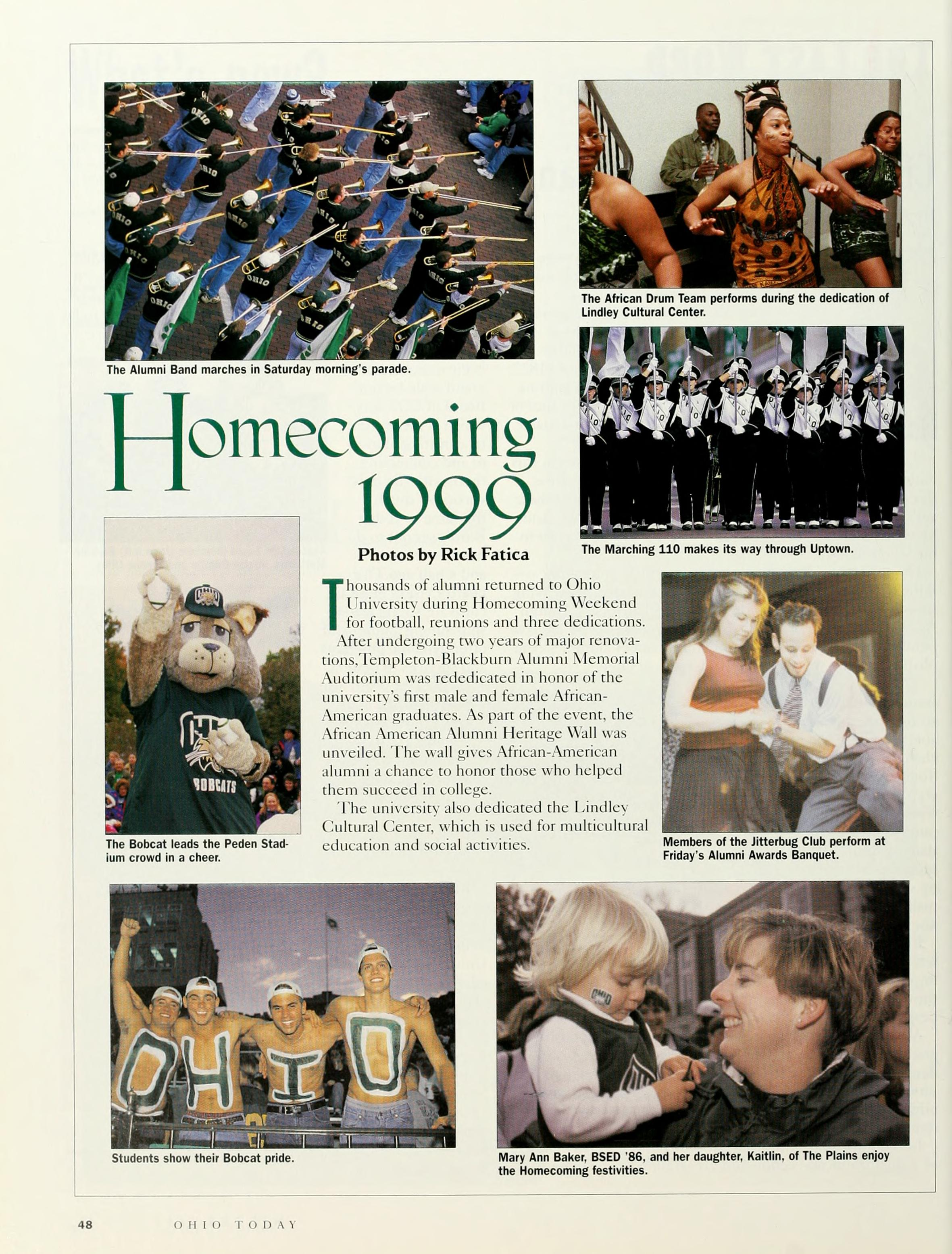 Ohio Today, Homecoming 1999