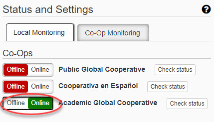 bringing co-op monitoring online
