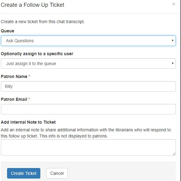 submitting a follow-up ticket