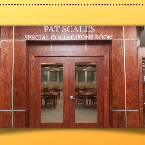 Outside the Pat Scales Room