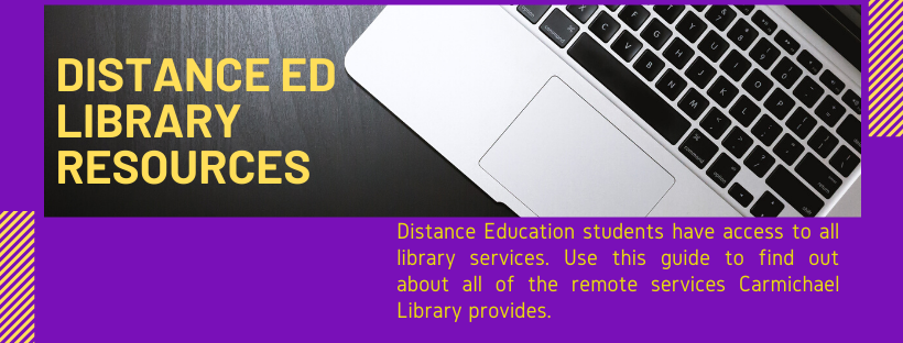 UM Distance Education Library Resources
