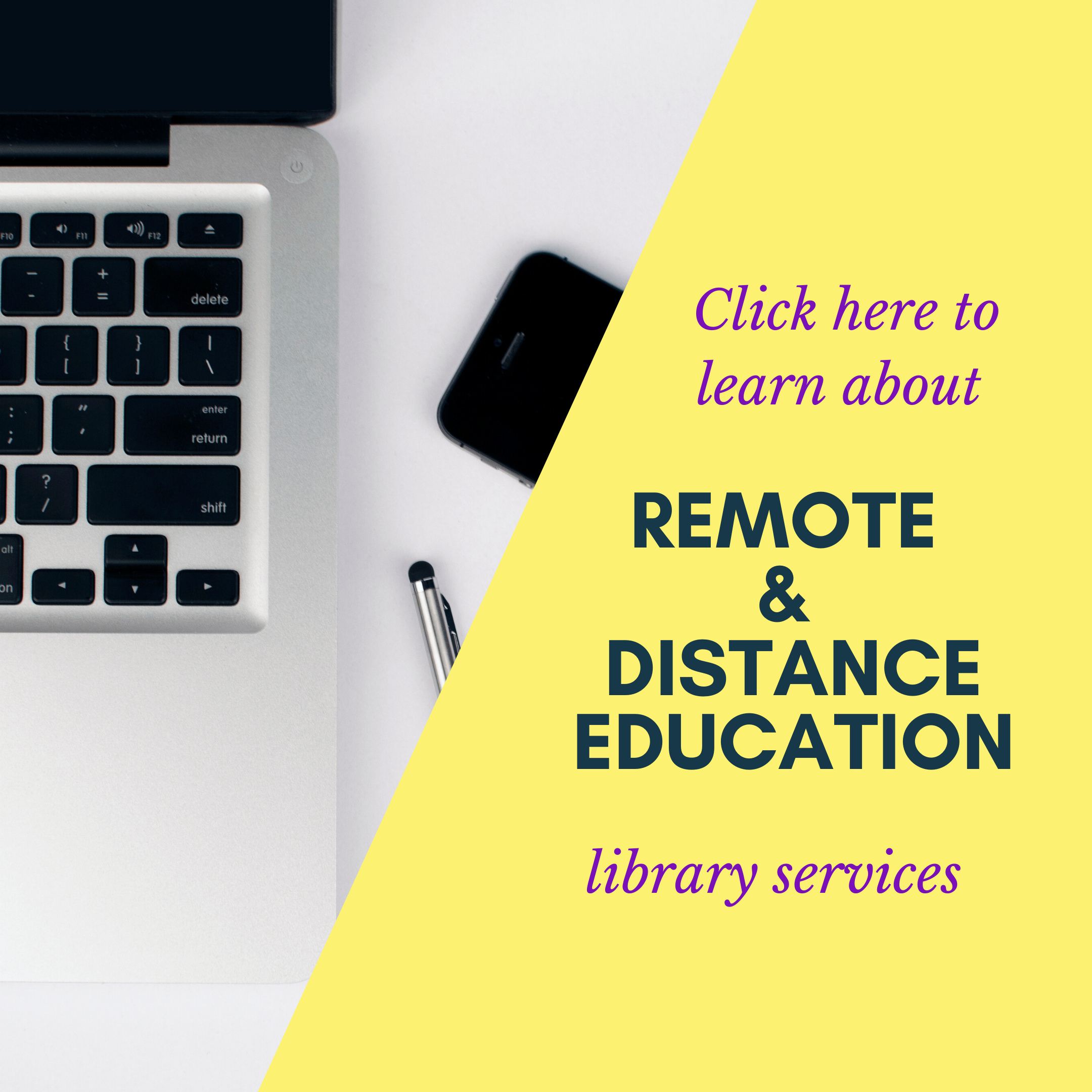 Learn more about remote and distance education library services