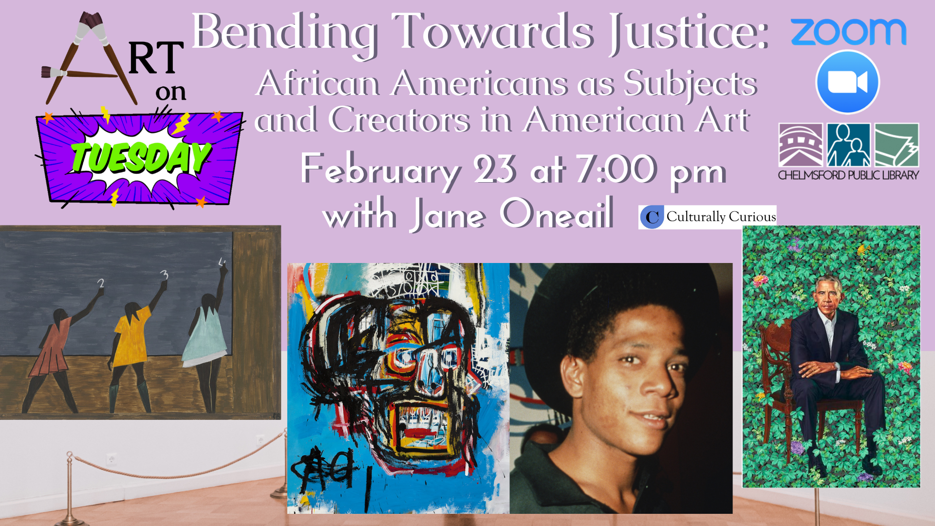 Art on Tuesdays: Bending Towards Justice: African Americans as Subject and Creators in American Art