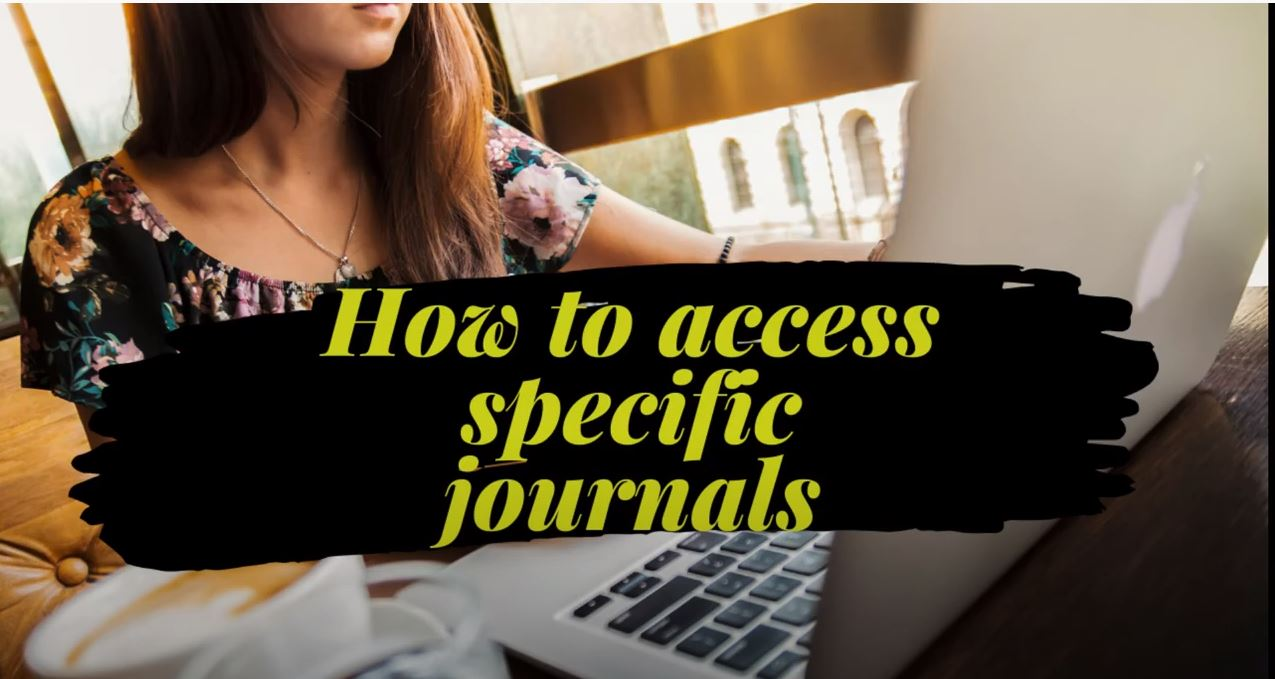 How to access specific journals