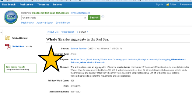EBSCO Article Subjects