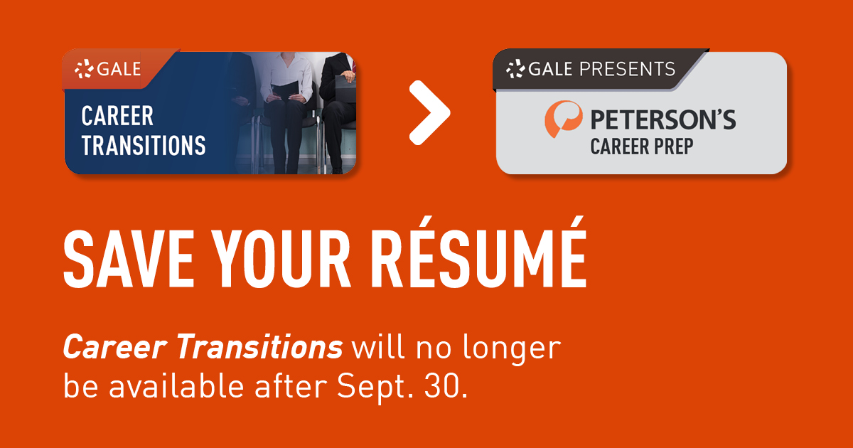 Save your resume.  Career Transitions will no longer be available after Sept. 30.