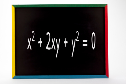 math formula written on a blackboard