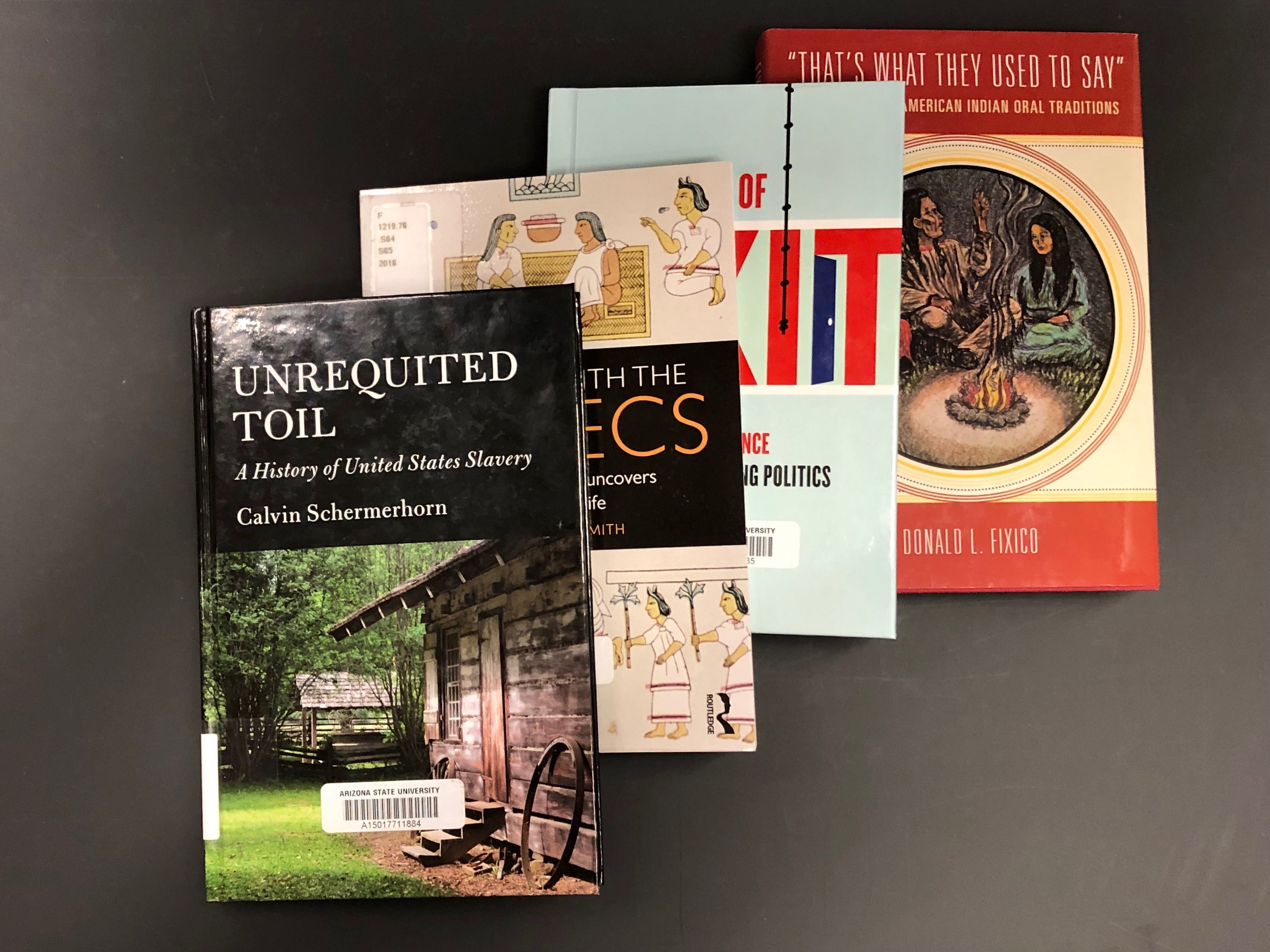 Four faculty books used for this project