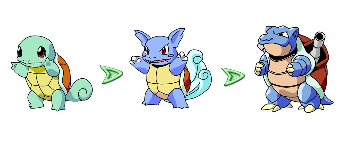 Image of the Pokemon Bulbasaur's evolutions