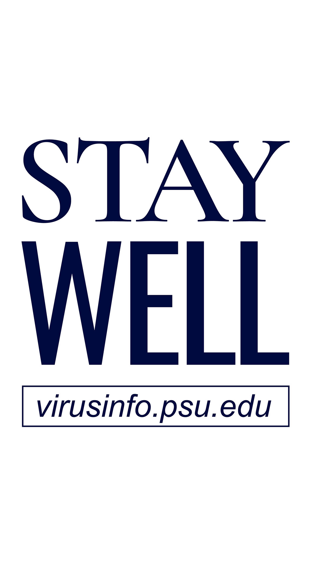 Stay well title graphic