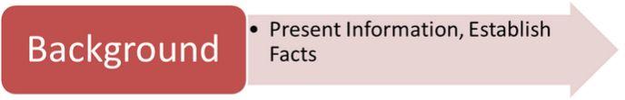 Background: Present Information, Establish Facts