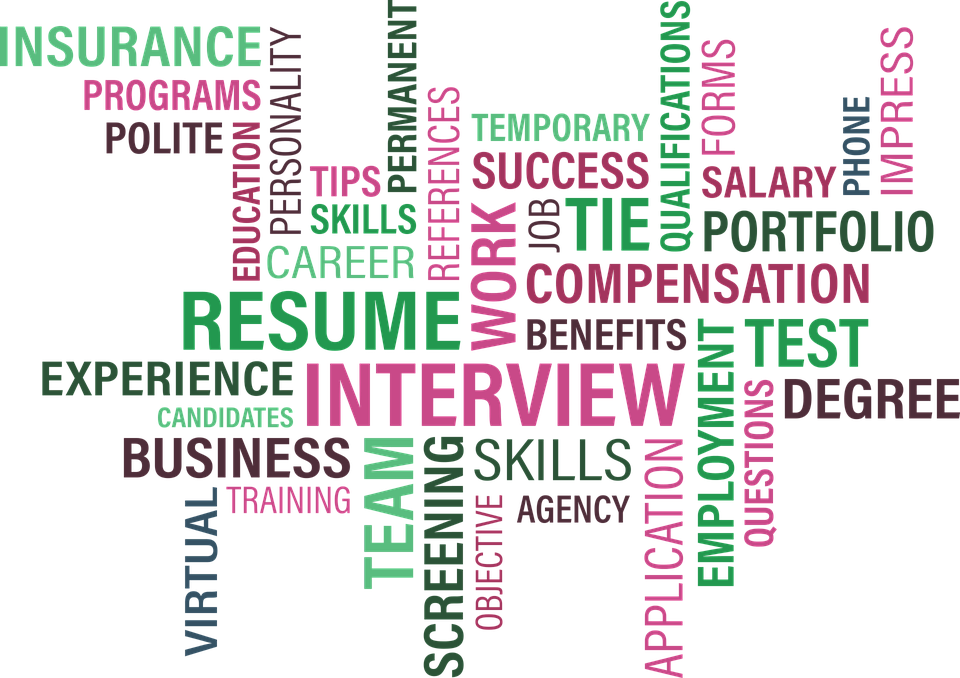 Word cloud for job searching