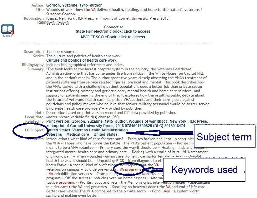 "Book from keyword search ""VA Programs"""