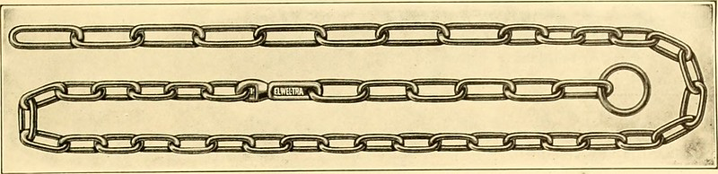 old illustration of a linked chain