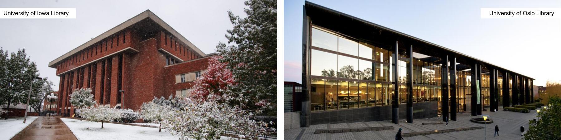 University of Iowa and University of Oslo Libraries