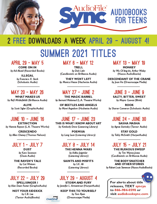 Audio File Sync audiobooks for teens 2 free downloads a week April 29 - August 4