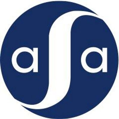 American Studies Association white letter 'ASA' in blue circle logo