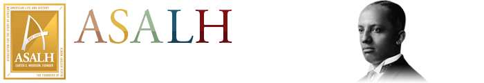 Association for the Study of African American Life and History bust of Carter G. Woodson logo