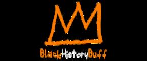Black History Buff crown line drawing logo