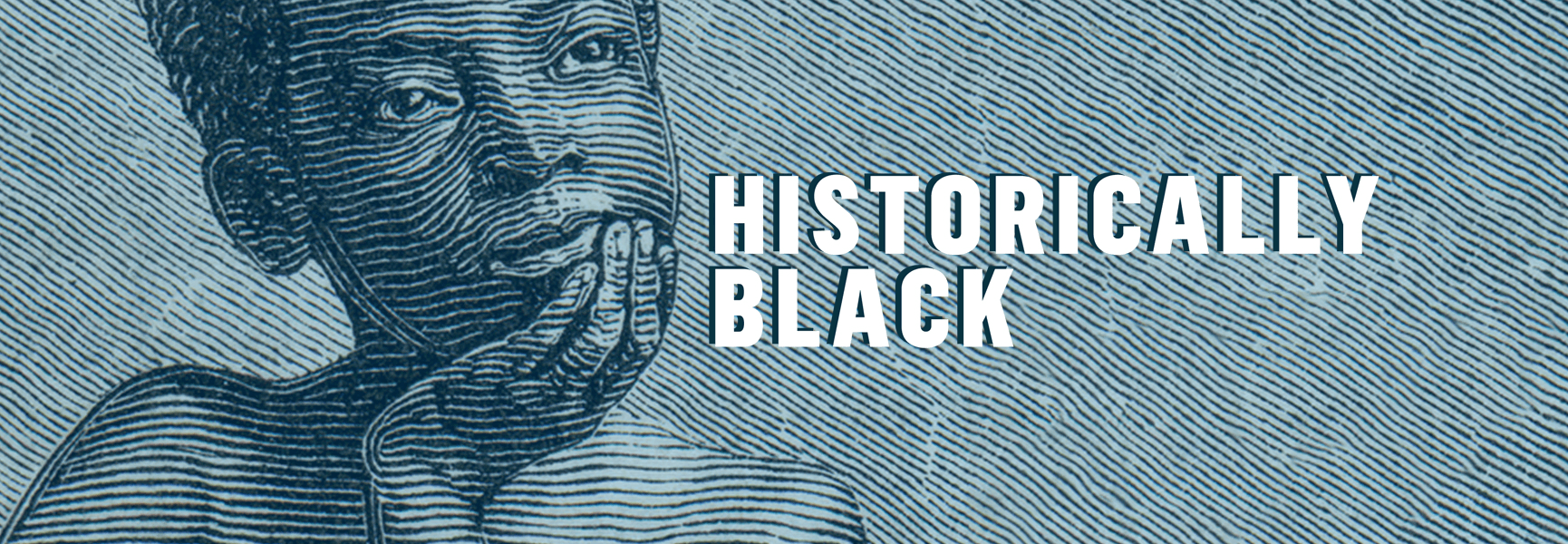 Historically Black young black boy thinking podcast logo