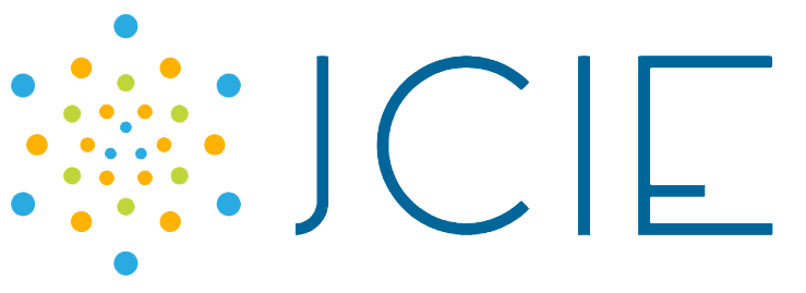 Journal of Contemporary Issues in Education multicolored dots with letters 'JCIE' logo