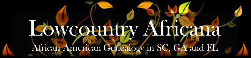 Lowcountry Africana falling leaves logo