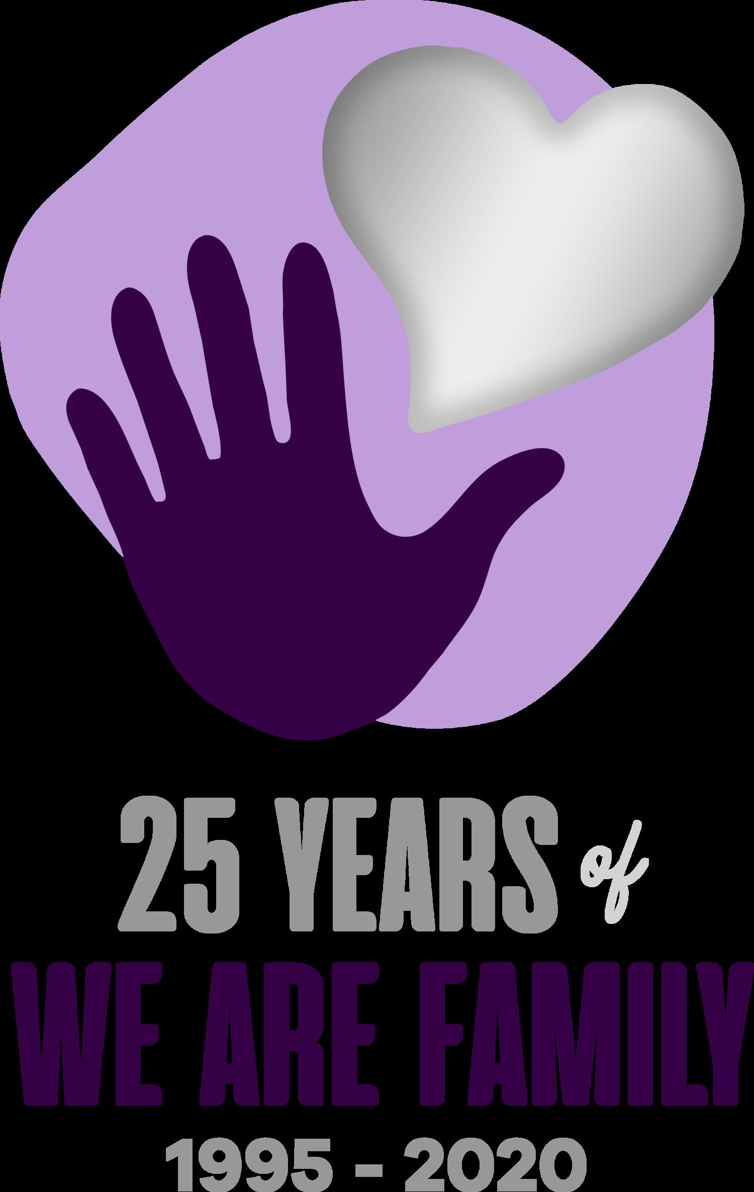 We Are Family Charleston hand and heart logo