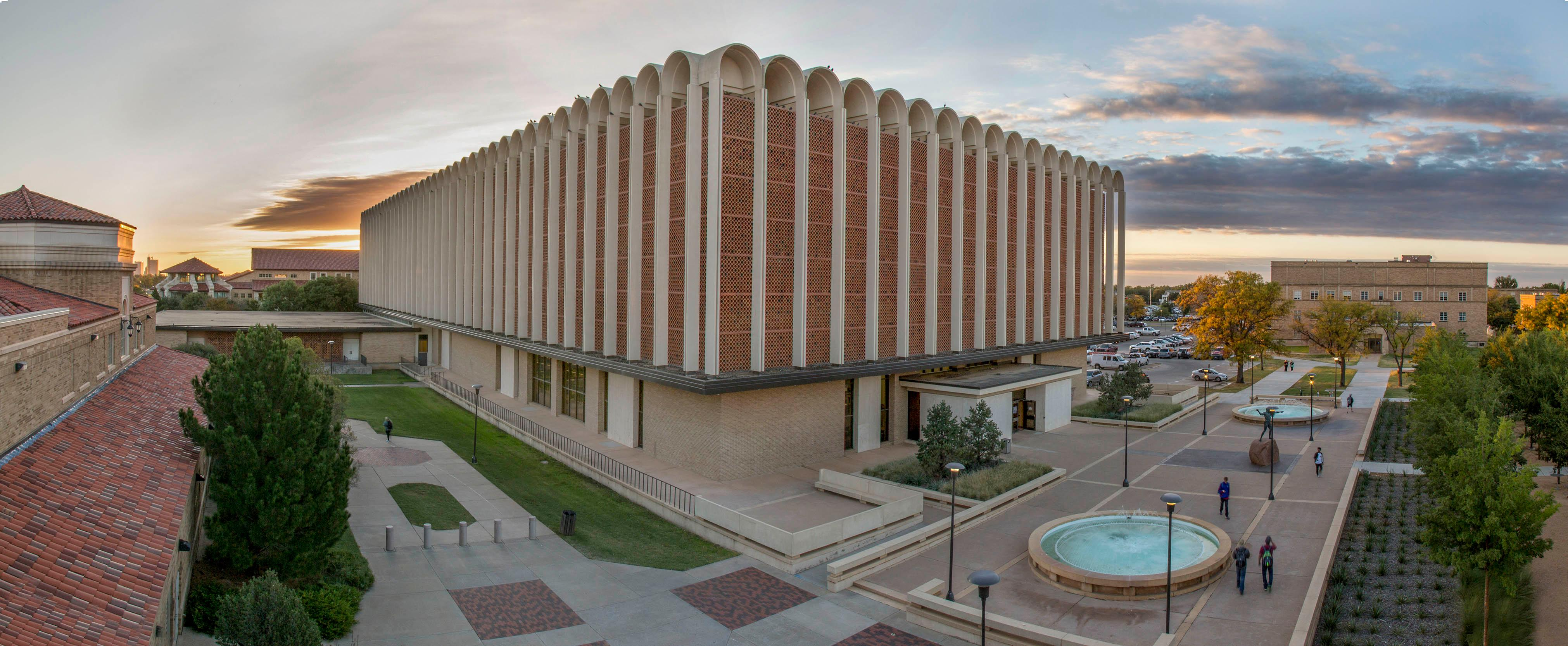 picture of Texas tech university libraries building