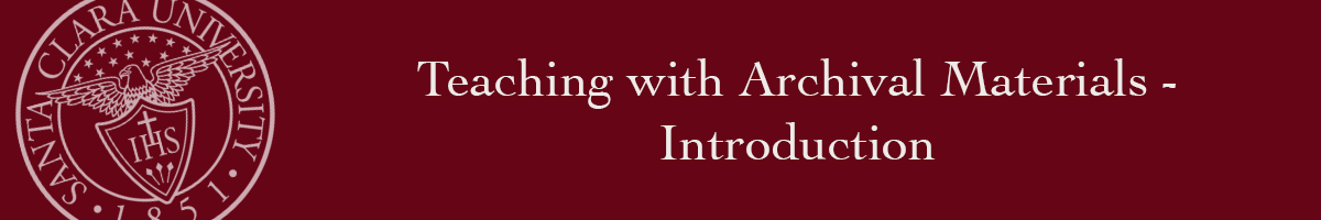 Teaching with Archival Materials banner