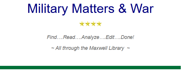 War and Military Matters Bookmark Logo