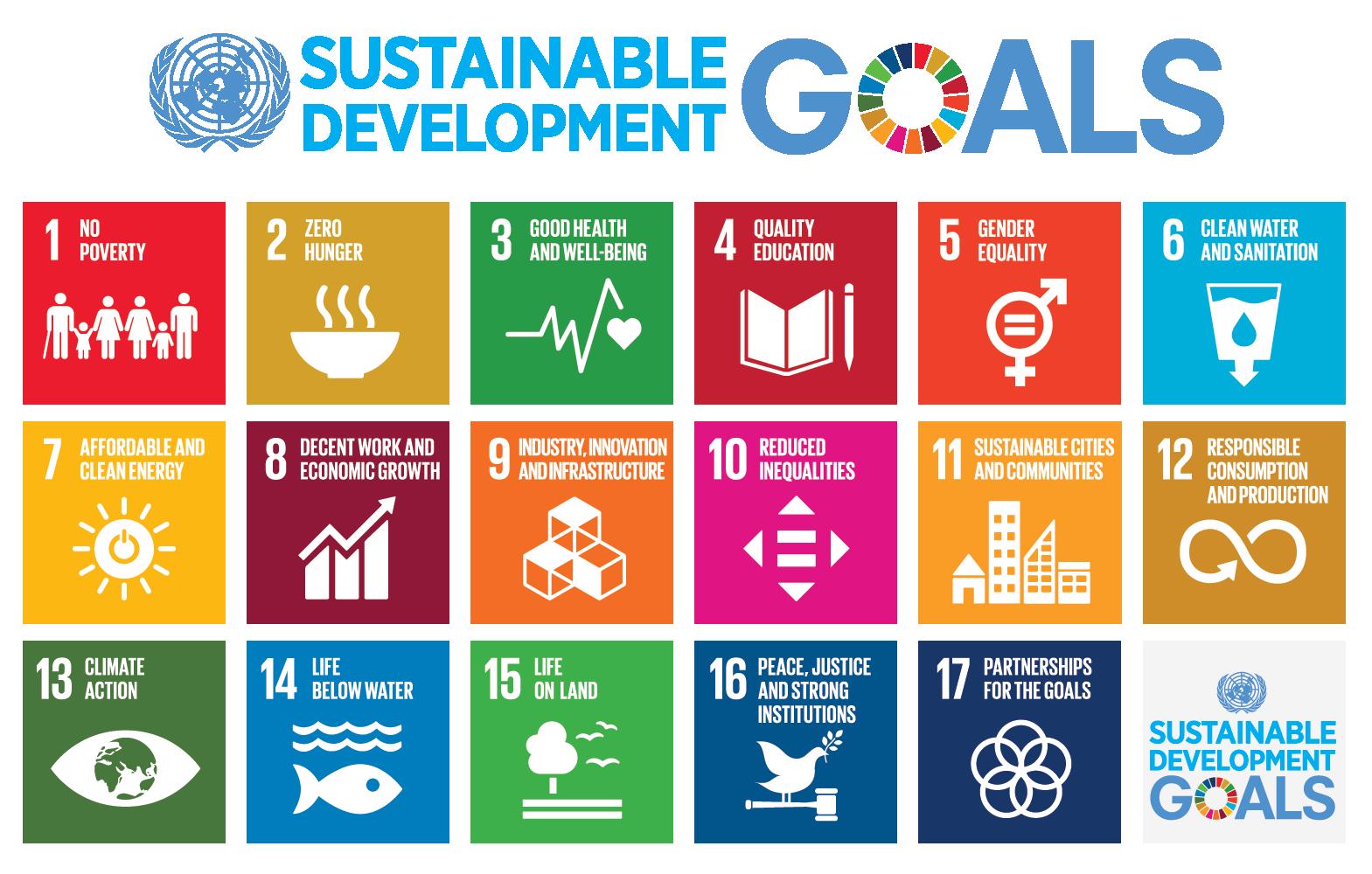 Sustainability goals graphic