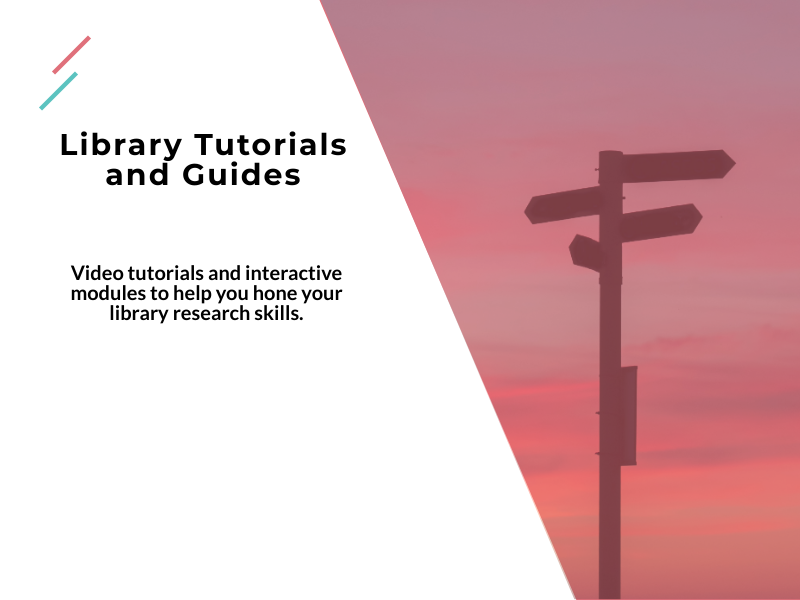 Video tutorials and interactive modules to help you hone your library research skills.