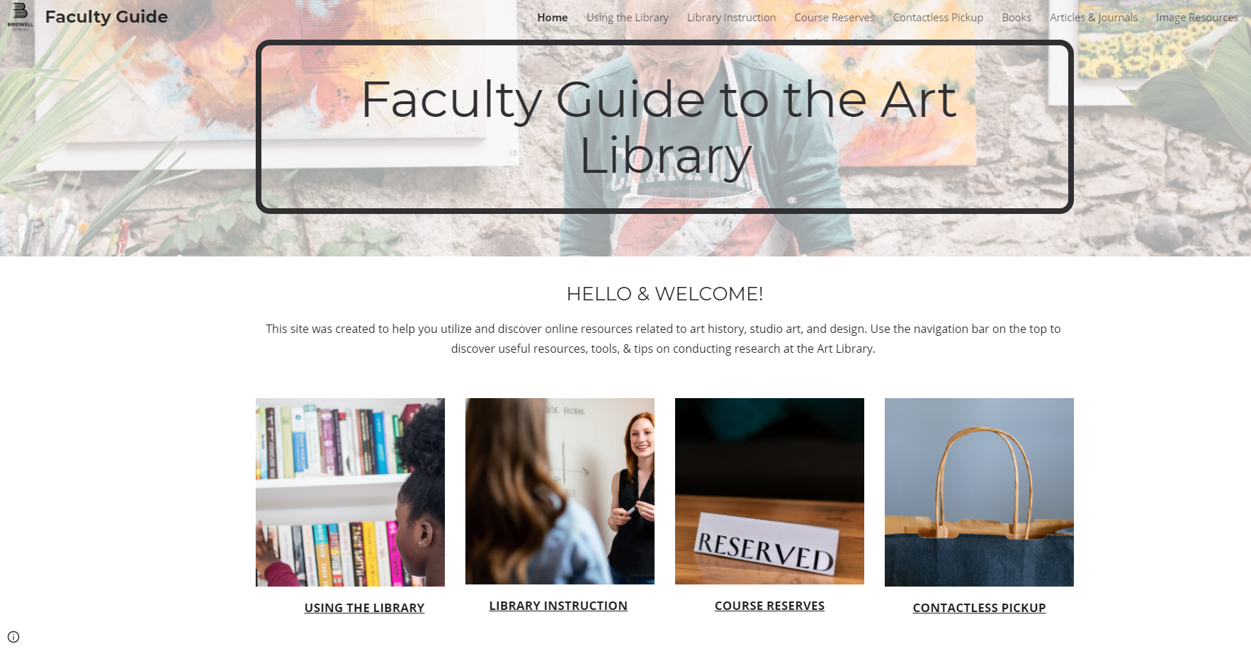 image of Faculty Guide to the Art Library
