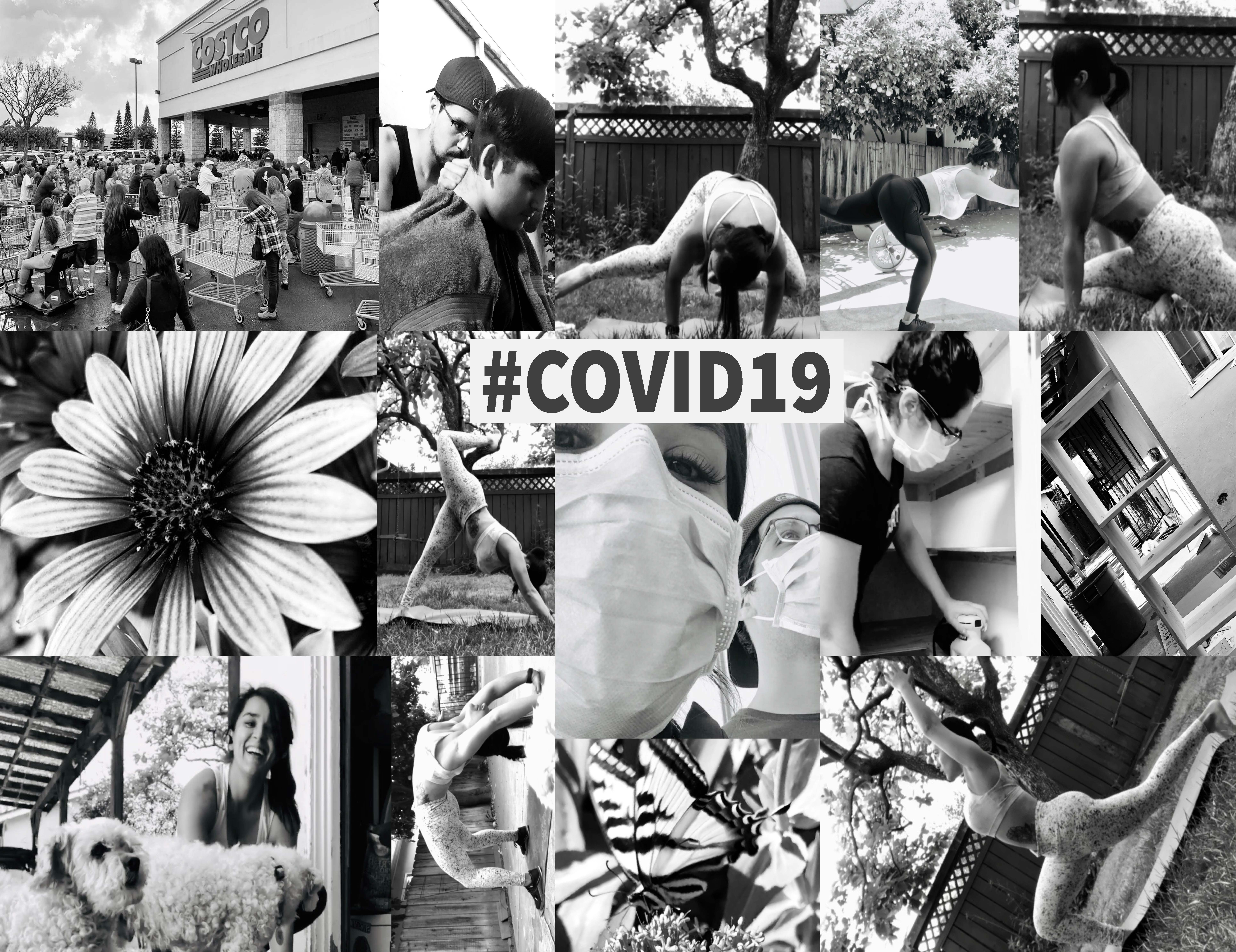 Collage of images of activities during COVID-19 Shelter in Place