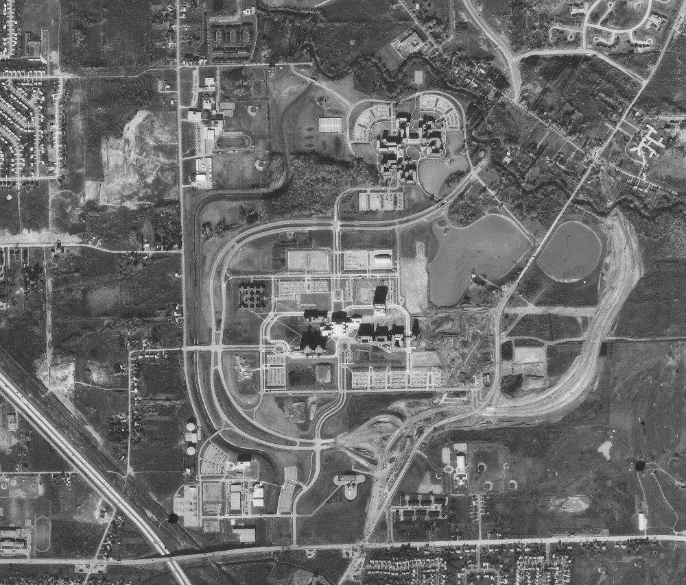 Aerial photo showing UB North 1978