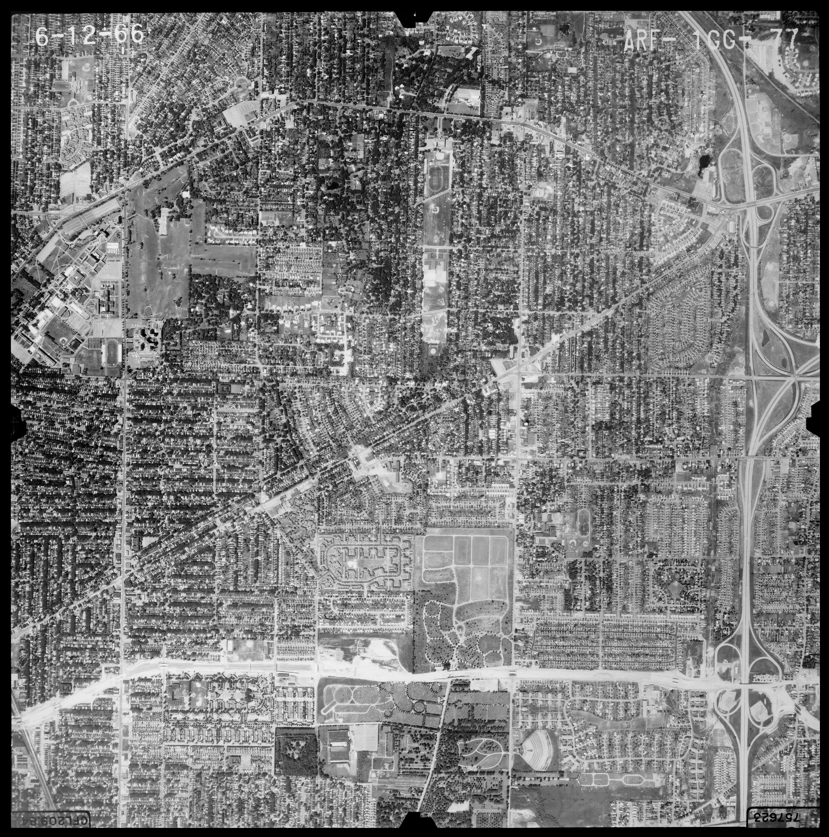 1966 aerial photo showing UB South campus