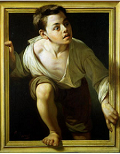 image_of_painting_by_Caso_called_Escaping_Criticism