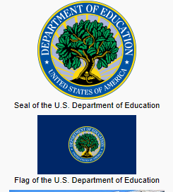 image of the official seal & flag of the U.S. Department of Education