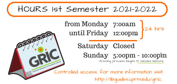 GRIC Hours - 1st Semester 2021-2022