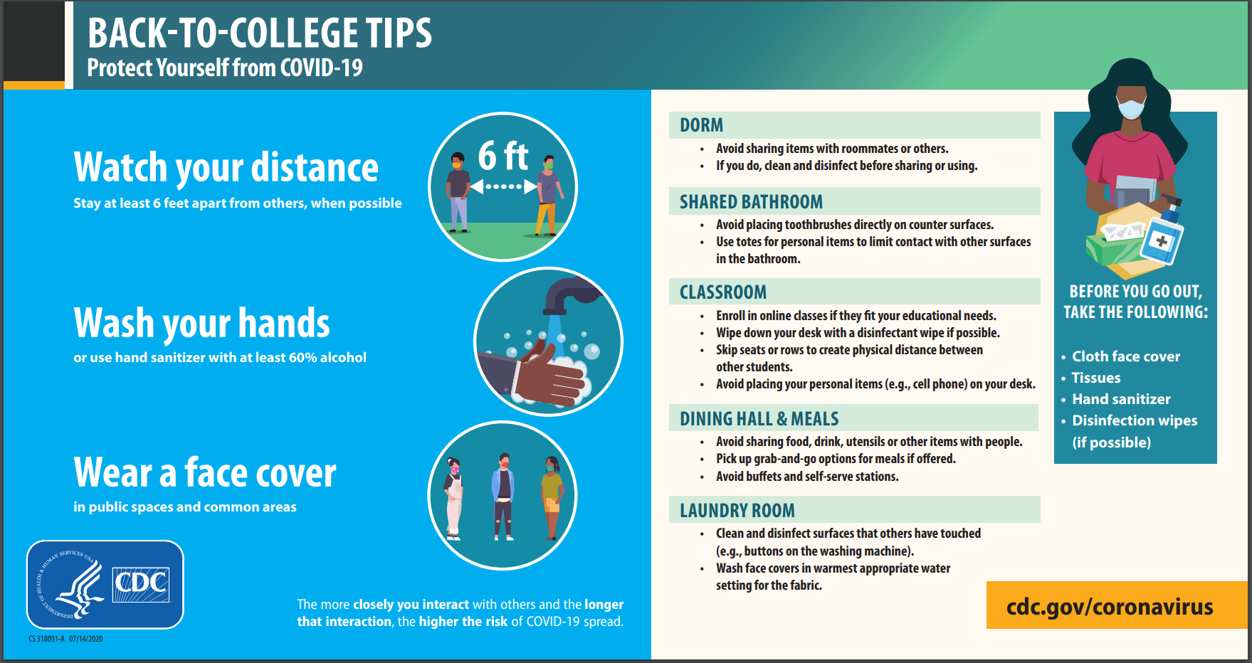 CDC Tips for College Students