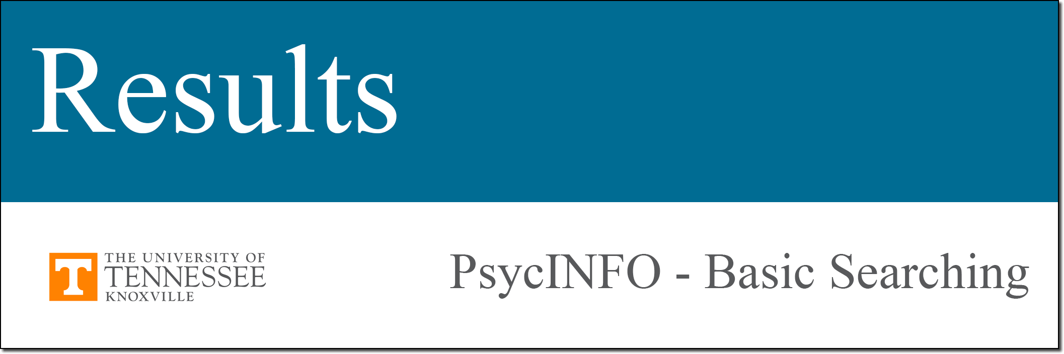 PsycINFO Tutorial Results link.
