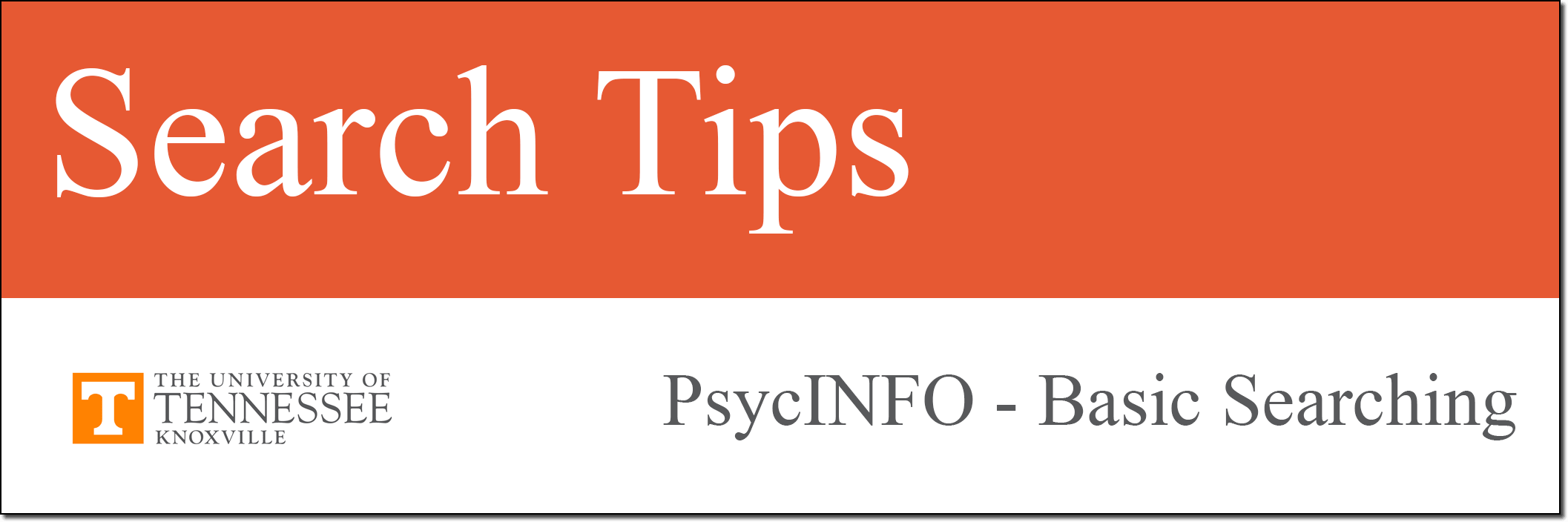 PsycINFO Tutorial Search Tips link.