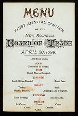 Photo of a vintage menu.