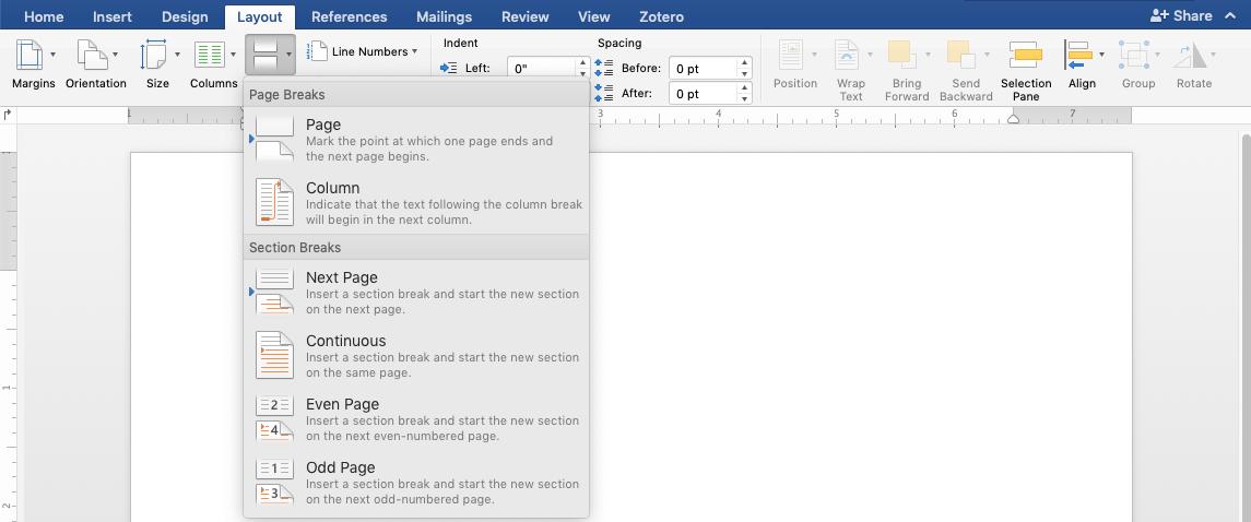 Word Layout Screenshot